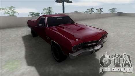 Chevrolet El Camino SS 454 1970 для GTA San Andreas вид сзади