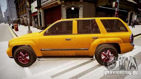 Chevrolet TrailBlazer v2.0 для GTA 4 вид слева