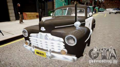 Ford Police Special 1947 для GTA 4 вид справа