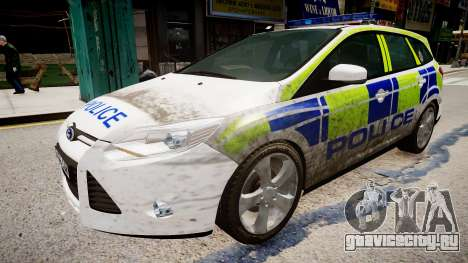 Ford Focus police UK для GTA 4 вид справа