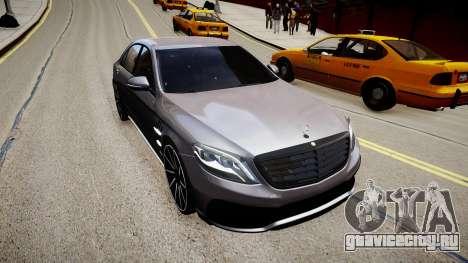 Mercedes-Benz S63 AMG W222 WALD для GTA 4 вид сзади слева