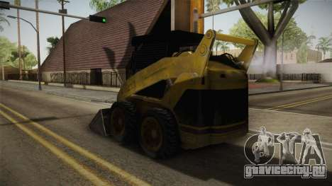 Demolition Company - Skid Steer Loader для GTA San Andreas вид сзади слева
