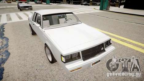 Buick Regal Grand National для GTA 4