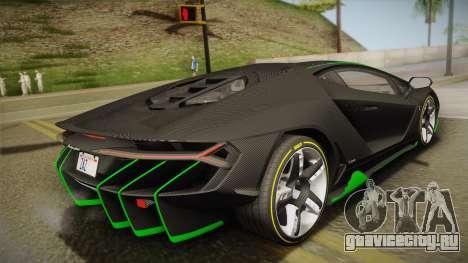 Lamborghini Centenario LP770-4 2017 Carbon Body для GTA San Andreas вид слева