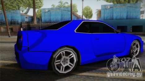 Nissan Skyline Lowpoly для GTA San Andreas вид слева