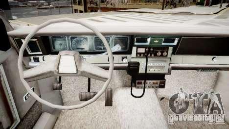 Chevrolet Impala Chicago Police для GTA 4 вид изнутри