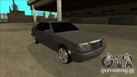 Mercedes Benz W140 Evolution для GTA San Andreas вид справа