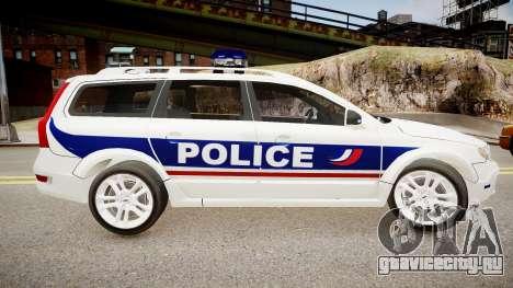 Volvo Police National для GTA 4 вид слева