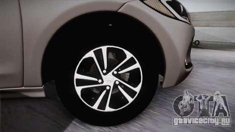Hyundai Elantra 2017 для GTA San Andreas вид сзади слева