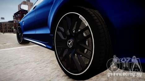 Mercedes-Benz CLS 63 AMG W218 2015 для GTA 4 вид сзади