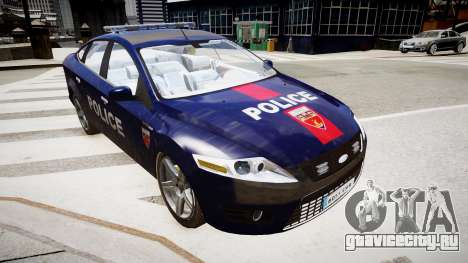Ford Mondeo Police Nationale для GTA 4 вид справа
