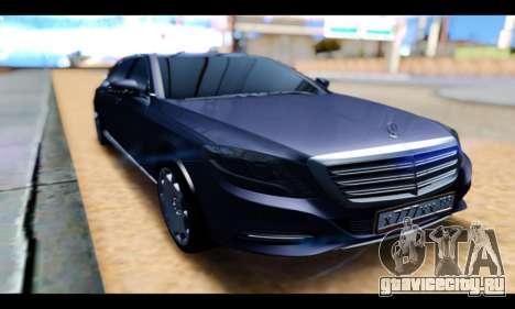 Maybach S400 для GTA San Andreas вид сзади