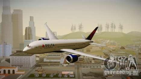 Boeing 787-8 Delta Airlines для GTA San Andreas вид сзади слева