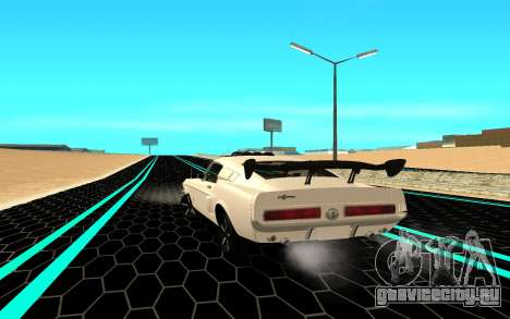 Shelby Mustang GT500 для GTA San Andreas вид сзади слева