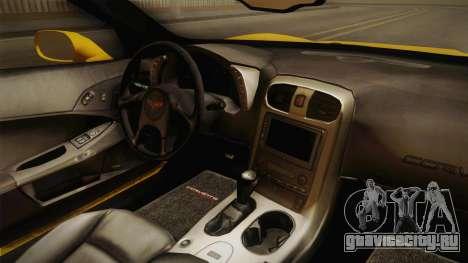 Chevrolet Corvette C6 для GTA San Andreas вид изнутри
