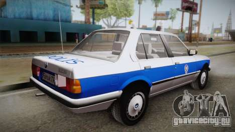 BMW 323i E30 Turkish Police для GTA San Andreas вид слева