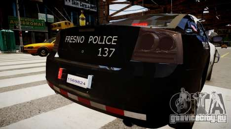 Dodge Charger Police для GTA 4 вид сзади слева