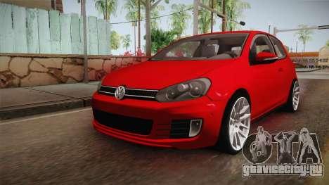 Volkswagen Golf 1.6 для GTA San Andreas вид сзади слева