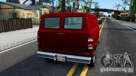 GTA V Brute Pony для GTA San Andreas вид сзади слева