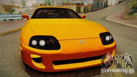 Toyota Supra US-Spec (JZA80) 1993 PJ для GTA San Andreas вид сзади