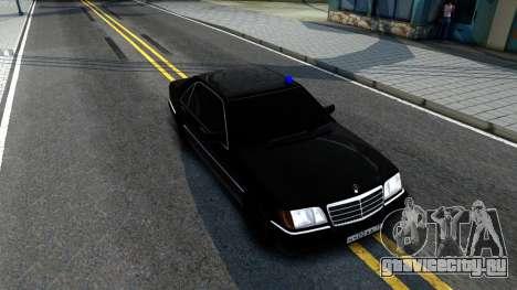 Mercedes-Benz W140 400SE для GTA San Andreas вид справа
