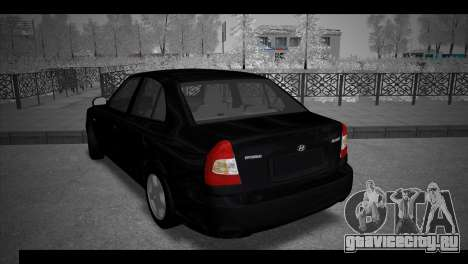 Hyundai Accent Stock для GTA San Andreas вид слева