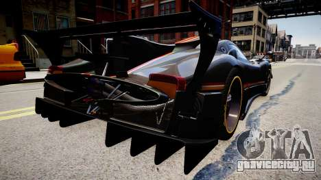 Pagani Zonda R Evolucion Final для GTA 4 вид слева