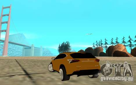 Lexus Nx 200 F-sport для GTA San Andreas вид сзади слева