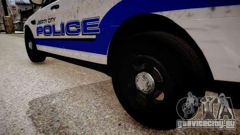 Ford Interceptor Liberty City Police для GTA 4 вид сзади