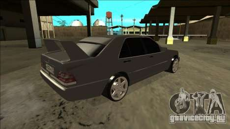 Mercedes Benz W140 Evolution для GTA San Andreas вид слева