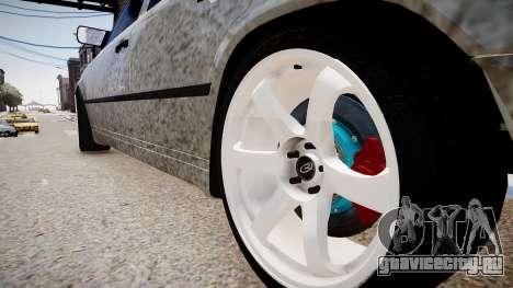 Mercedes-Benz W124 BRABUS v1.0 для GTA 4 вид сзади