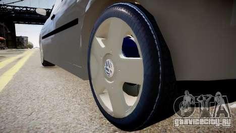 Volkswagen Golf G3 для GTA 4 вид сзади
