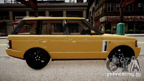 Land Rover Supercharged 2012 для GTA 4 вид сзади слева