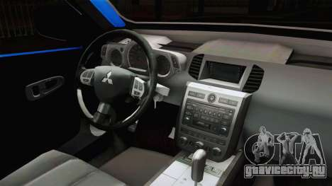 Mitsubishi L200 для GTA San Andreas вид изнутри