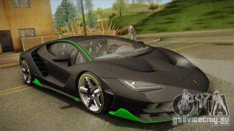 Lamborghini Centenario LP770-4 2017 Carbon Body для GTA San Andreas