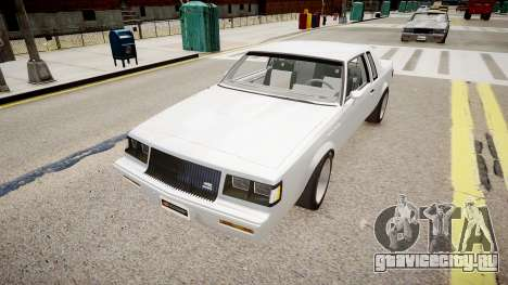 Buick Regal Grand National для GTA 4 вид справа