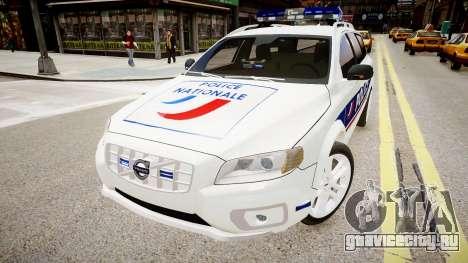 Volvo Police National для GTA 4 вид справа