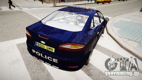 Ford Mondeo Police Nationale для GTA 4 вид сзади слева