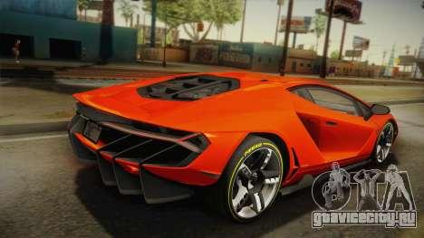 Lamborghini Centenario LP770-4 2017 Painted Body для GTA San Andreas вид слева