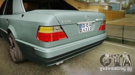 Mercedes-Benz E500 W124 AMG для GTA San Andreas вид снизу