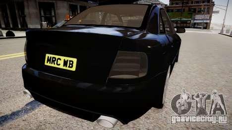 Audi S4 Widebody для GTA 4 вид справа