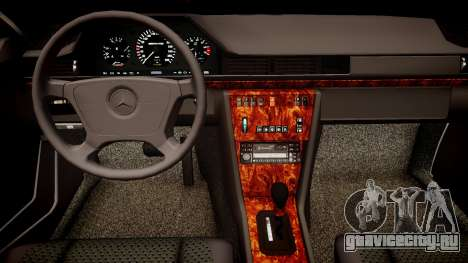 Mercedes-Benz W124 E500 для GTA 4 вид изнутри