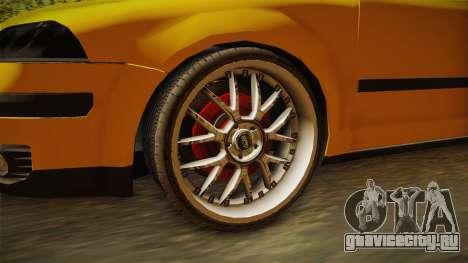 Volkswagen Passat B5 FL W8 для GTA San Andreas вид сзади