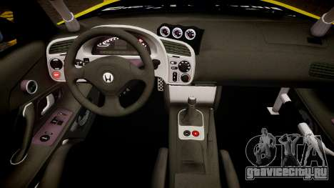 Honda S2000 1998 + Race Vinyl для GTA 4 вид изнутри