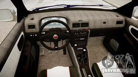 Subaru Impreza 22b STI для GTA 4 вид изнутри