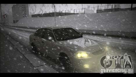 Hyundai Accent Stock для GTA San Andreas вид сзади слева