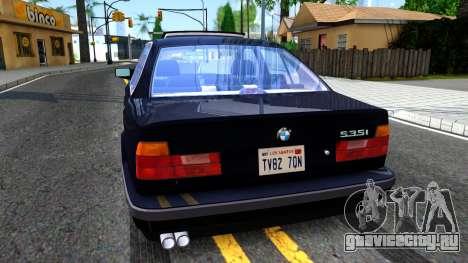 BMW E34 535i для GTA San Andreas вид сзади слева