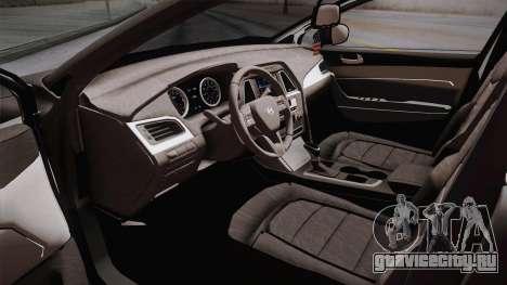 Hyundai Elantra 2017 для GTA San Andreas вид изнутри