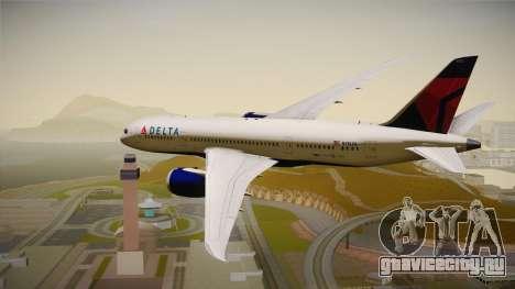 Boeing 787-8 Delta Airlines для GTA San Andreas вид справа