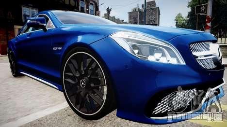 Mercedes-Benz CLS 63 AMG W218 2015 для GTA 4